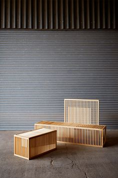 Okay Studio to exhibit hardwood designs at Clerkenwell Design Week / Clarascuro benches by Lilliana Ovalle