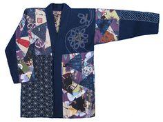 Patchwork and sashiko jacket