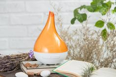Ultransmit Aroma VIVI Ultrasonic Aromatherapy Essential Oil Diffuser, High Capacity Diffuser with Auto Shut- Off (Orange) *** Remarkable product available now. : aromatherapy diffuser