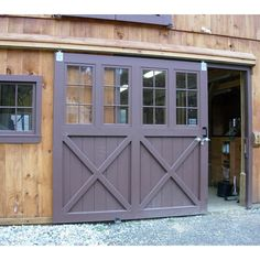 Ideas For Sliding Barn Door Garage Style Barn Door Garage, Exterior Sliding Barn Doors, Barn Door Locks, Barn Door Track, Garage Door Design, Double Barn Doors, Diy Barn Door, Sliding Barn Door Hardware, Sliding Doors