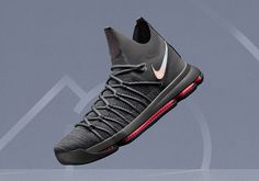 4e0e9ee110c3 NIKE KD 9 ELITE TIME TO SHINE Dark Grey Volt Bright Crimson Metallic Silver  March 2017