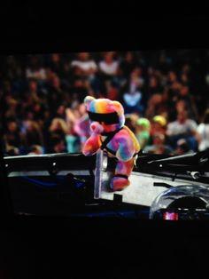 Rainbow Bondage Bear is still with them - Toronto 8/1/14
