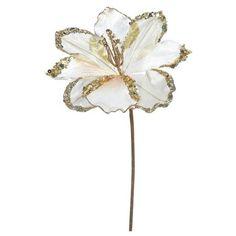 """20"""" Christmas Velvet Amaryllis Rose Gold 3 ct : Target"""