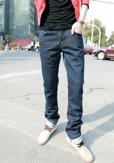 Classic Vogue Hot Sale Long Simple Design Jeans  XS/S/M/L/XL/XXL @S8K232-1