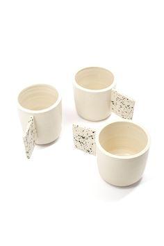 Modernize your mug collection with a hand thrown mug by Canadian designer Jacqueline Klassen.