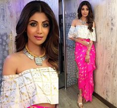 Top Looks From Shilpa Shetty's Super Dancer Closet Indian Wedding Outfits, Indian Outfits, Indian Clothes, Western Outfits, Indian Dresses, Lakme Fashion Week, India Fashion, Indian Attire, Indian Wear