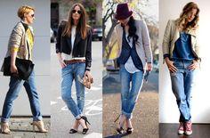 Boyfriend jeans style.