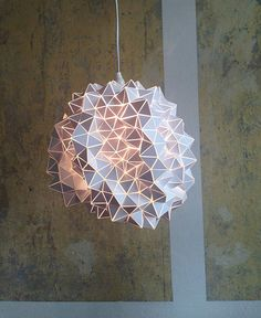 This Handmade Geodesic Lampshade from Etsy is Origami-Inspired #lighting #design trendhunter.com