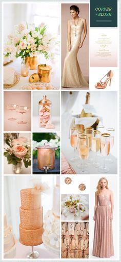 Copper + Blush Wedding Color Inspiration