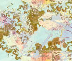mermaids_in_seaweed_ fabric by greenlotus on Spoonflower - custom fabric