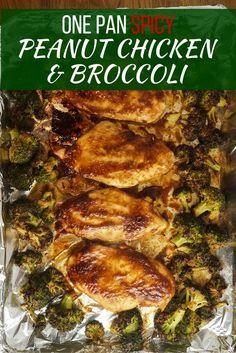 One Pan Spicy Peanut Chicken and Broccoli - Slender Kitchen
