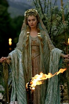 Brighid - Celtic Goddess of hearth and home, fertility, smithcraft, and healing. Brighid is honored on Imbolc - a Gaelic festival marking the beginning of Spring.