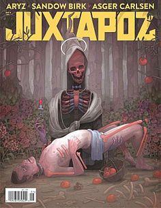 Juxtapoz Magazine: January 2013 w/ ARYZ, Ryan Travis Christian, Asger Carlsen Illustration Sketches, Graphic Design Illustration, Trauma, Cool Magazine, Magazine Covers, Spanish Artists, Street Artists, Art Music, Cool Art