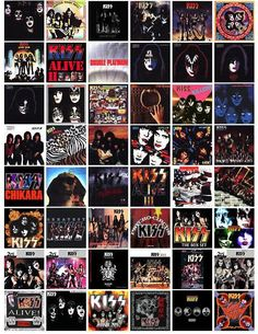 KISS ALBUM COVERS I have bought multiples of many of them due to format changes and just wearing the out! Rock N Roll, Rock & Pop, Rock And Roll Bands, Kiss Band, Kiss Rock Bands, Kiss Album Covers, Rock Album Covers, Paul Stanley, Gene Simmons