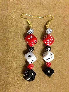 Dice Earrings by Sanllo on Etsy, $9.99