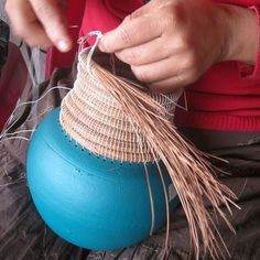 Pine Needle + Clay Vases!  nicaraguan women's craft collective