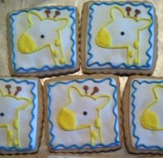 Giraffe cookies Baby shower decorated cookies by RPConfections, $29.00