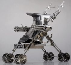 steampunk weapons for sale zombie apocalypse stroller Apocalypse Survival, Survival Gear, Survival Knife, Zombies Survival, Steampunk Accessoires, Steel Sculpture, Cool Guns, Guns And Ammo, Rifles