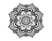 Mandala Tattoo, Black Mandala, Henna Mandala Temporary Tattoo (Set of 2)