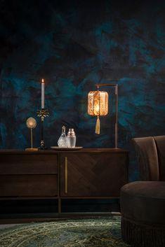 Suoni table lamp - Dutchbone Mesa Retro, Gold Lanterns, Retro Table Lamps, Design Department, Department Store, Luminaire Design, Dark Interiors, Modern Interior Design, Interior Styling