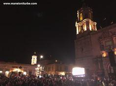 """La Plaza Valladolid en Morelia, durante el evento de K'uinchekua """"La Fiesta Grande de Michoacán""""."""