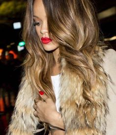 Rihanna Caramel Hair Color Formula 2016 | Gotta love this tortoiseshell goodness.