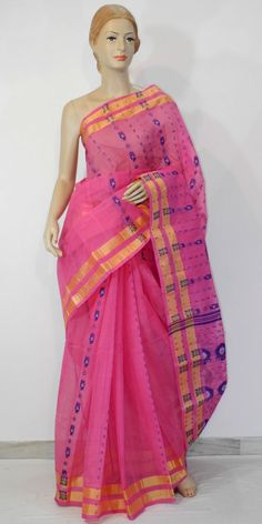Buy this Bengal Handloom Tant Saree (Cotton) Saree, Online : http://www.maanacreation.com/product-view/?id=1104 This designer collection is handpicked from Kolkata (WB). It is latest, designer, high quality cotton saree with golden satin border. Our each Saree is unique, designer and individually crafted to give a gorgeous look to your personality and in any gathering you will find all eyes upon you. Drape them in style and walk with pride to your parties and functions.