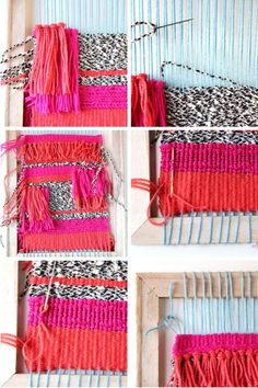 How to make your own Diy Woven Wall Hanging - time consuming but very cool. Make yourself a little wall tapestry