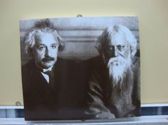 Albert Einstein and Rabindranath Tagore: explorers of truth, beauty, science, spirituality and existence Mahatma Gandhi, Rabindranath Tagore, Charles Darwin, Theory Of Relativity, Photo Portrait, E Mc2, Sigmund Freud, Physicist, Friedrich Nietzsche