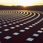 A Sea of Glistening Solar Mirrors Photographed at the Nevada SolarReserve by Reuben Wu