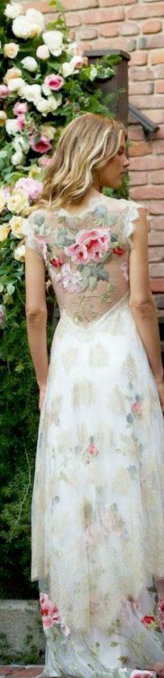 floral lace white layered dress