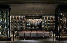 Top 80 Best Wine Cellar Ideas - Vino Room Designs Hotel Lobby Design, Home Design, Caves, Home Wine Cellars, Wine Cellar Design, Wine Bar Design, Rosewood Hotel, Wine Display, Wine Wall