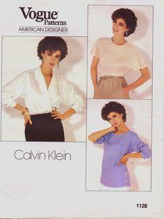 Calvin Klein 80s Vogue American Designer Pattern by CloesCloset, $10.00