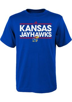 Charcoal Heather NCAA Kansas Jayhawks Boys Youth Bar Design Vital Poly Tee Large