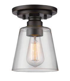 100 watt bulbClayton 1-Light Semi Flush Mount