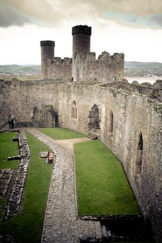 Conwy Castle ~ is a medieval fortification built by Edward I between 1283-89 in Conwy on the north coast of Wales.