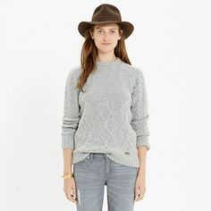 You can't talk about authentic British fashion without mentioning this enduring brand, which has been the benchmark for weatherproof clothing since It makes the sort of timeless pieces you'll never part with, like this cozy cableknit sweater. Girls Sweaters, Cardigans For Women, Jackets For Women, Sweater Coats, Pullover Sweaters, Women's Sweaters, Cold Weather Dresses, Everyday Casual Outfits, Barbour Jacket