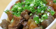 Doteyaki - Beef Tendons and Daikon Radish Simmered With Miso Recipe by cookpad. Asian Recipes, Beef Recipes, Cooking Recipes, Healthy Recipes, Beef Dishes, Daily Meals, Easy Cooking, No Cook Meals, Food Photo
