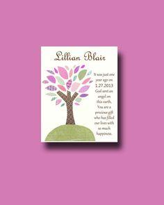 First Birthday Gift 1st Girl Baby Girls By BoutiqueBlu 1000 Tree