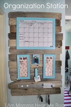 Kids Wall Organization! Great ideas to keep your kids (and your own) lives organized. So cute and highly functional! Take a look at the whole collection at Designdazzle.com
