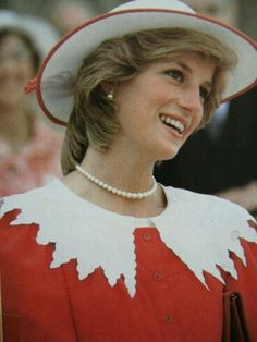 At the welcoming ceremony in Edmonton, Alberta, Canada during the Royal Tour of Canada, June 29, 1983