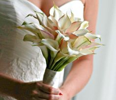 Sweet white calla lily bouquet from our team in Aulani #callalily
