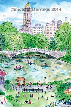 Can't wait for summer! Central Park as seen in New York in Four Seasons.