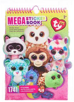 66034940f54 Amazon.com  Darice TY Beanie Boo Mega Sticker Book Ty Beanie Boos