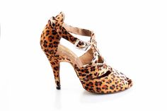 Suhali- Bella Dance Shoes in Leopard Belladanceshoes.com Custom heel heights- salsa bachata Latin ballrooms Shoes