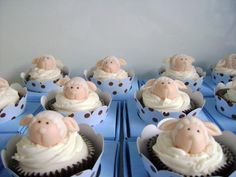 Cupcakes de Ovelha para Chá de Bebê (Chá de Fralda) ou Batizados