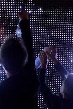 Water Light Graffiti by Antonin Fourneau, created in the Digitalarti Artlab on Vimeo Interactive Exhibition, Interactive Walls, Interactive Installation, Exhibition Display, Light Installation, Art Installations, Graffiti, Pop Up Art, Water Lighting