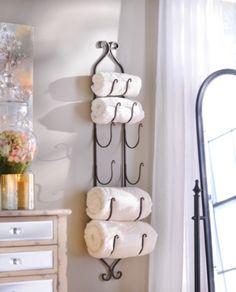 Bronze Metal Hanging Towel / Wine Rack | Kirklands