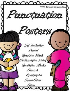 Punctuation Anchor Charts by Extraordinary ELA | Teachers Pay Teachers
