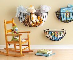 Garden+baskets+for+toy+storage - Click image to find more DIY & Crafts Pinterest pins